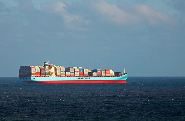 container-ship-on-the-sea-photo